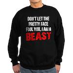 I AM A BEAST Sweatshirt (dark)