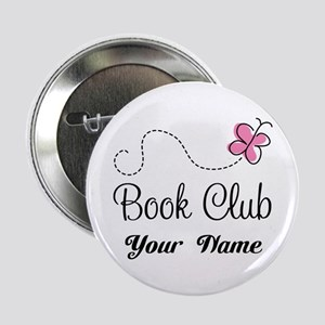 "Personalized Book Club Cute 2.25"" Button"