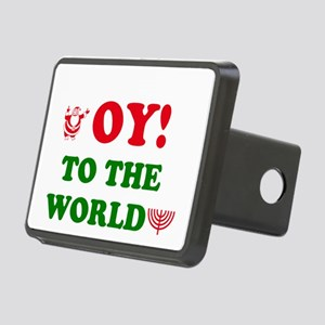 Oy to the World! Rectangular Hitch Cover