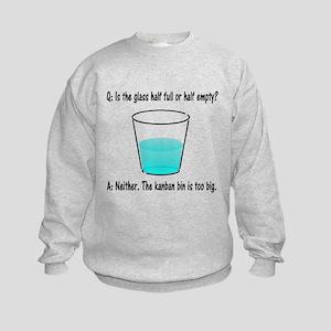 Kanban Water Glass 2 Kids Sweatshirt