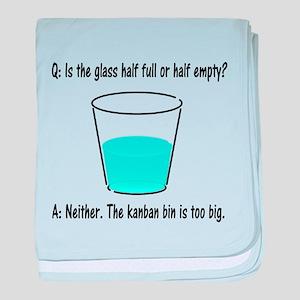Kanban Water Glass 2 baby blanket