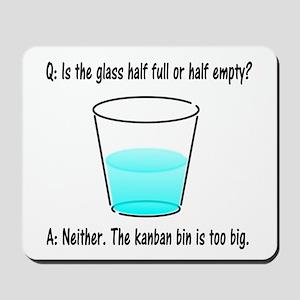 Kanban Water Glass 2 Mousepad