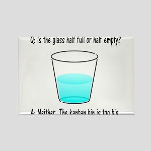 Kanban Water Glass 2 Rectangle Magnet