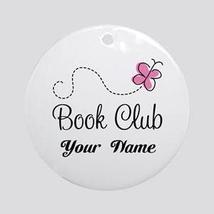 Personalized Book Club Cute Ornament (Round)