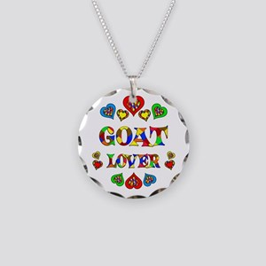 Goat Lover Necklace Circle Charm