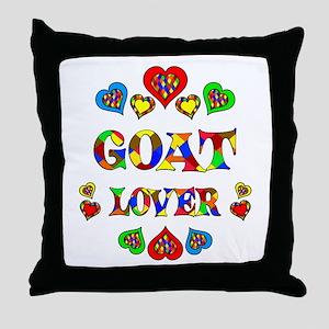 Goat Lover Throw Pillow