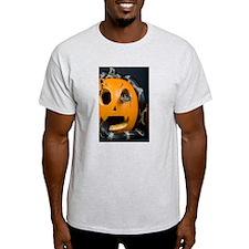 Black Snake in Pumpkin Light T-Shirt