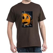 Black Snake in Pumpkin Dark T-Shirt