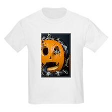 Black Snake in Pumpkin Kids Light T-Shirt