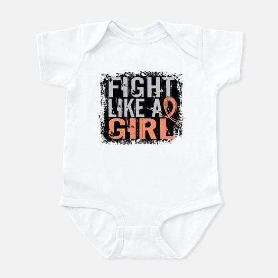 Licensed Fight Like a Girl 31.8 Ut Infant Bodysuit