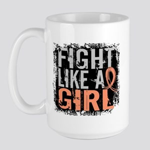 Licensed Fight Like a Girl 31.8 Uterine Large Mug