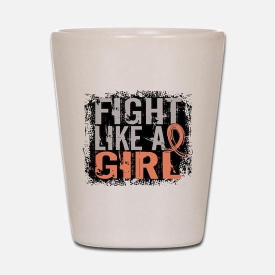 Licensed Fight Like a Girl 31.8 Uterine Shot Glass