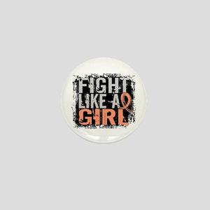 Licensed Fight Like a Girl 31.8 Uterin Mini Button