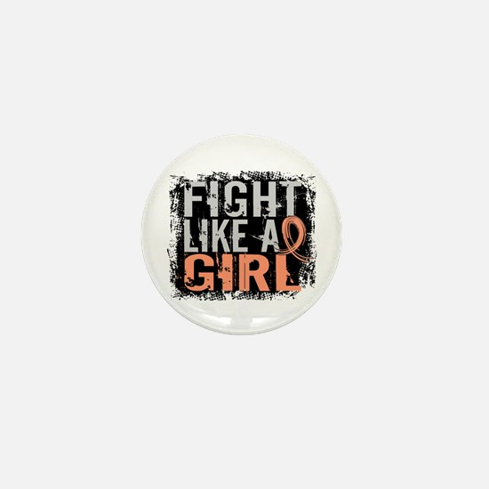 Licensed Fight Like a Girl 31.8 Uterin Mini Button