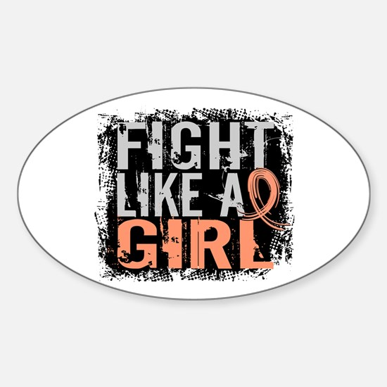 Licensed Fight Like a Girl 31.8 Ute Sticker (Oval)