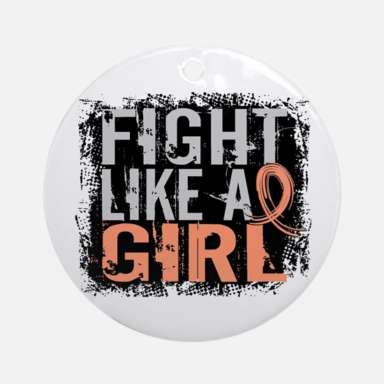 Licensed Fight Like a Girl 31.8 U Ornament (Round)