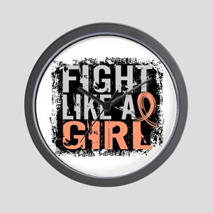 Licensed Fight Like a Girl 31.8 Uterine Wall Clock