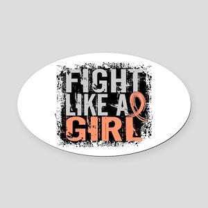 Licensed Fight Like a Girl 31.8 Ut Oval Car Magnet