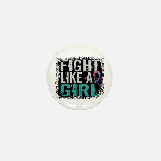 Licensed Fight Like a Girl 31.8 Thyroi Mini Button