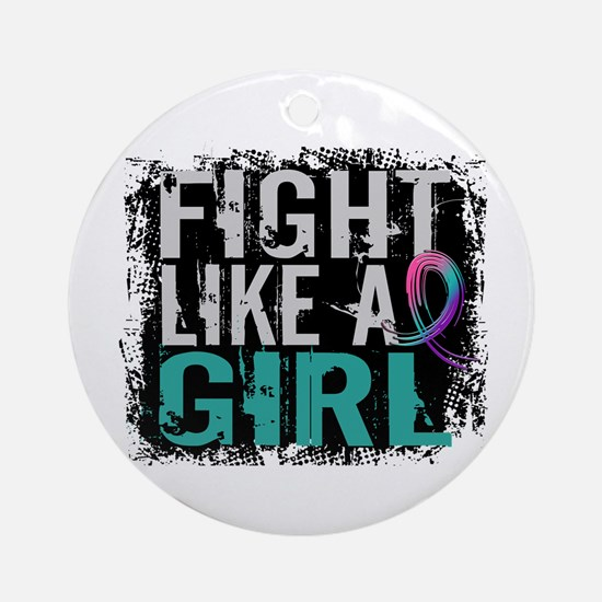 Licensed Fight Like a Girl 31.8 T Ornament (Round)