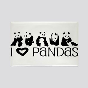 I Heart Pandas Rectangle Magnet