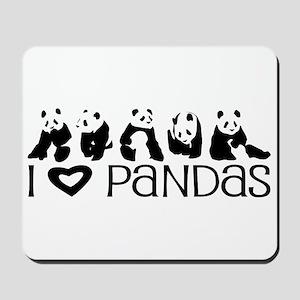 I Heart Pandas Mousepad
