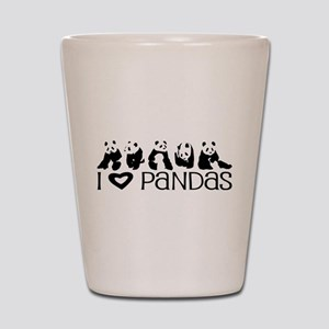 I Heart Pandas Shot Glass