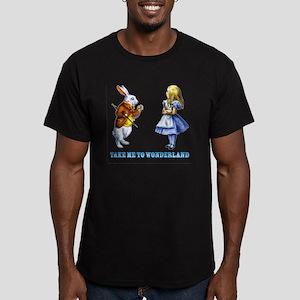 Take me to Wonderland Men's Fitted T-Shirt (dark)