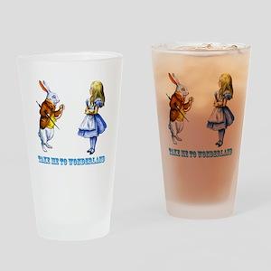 Take me to Wonderland Drinking Glass