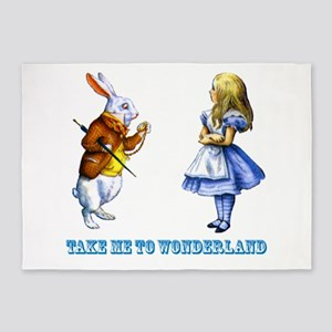 Take me to Wonderland 5'x7'Area Rug
