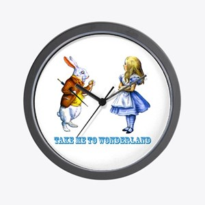 Take me to Wonderland Wall Clock