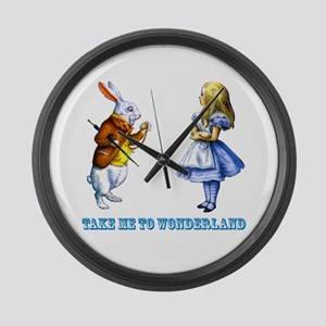 Take me to Wonderland Large Wall Clock