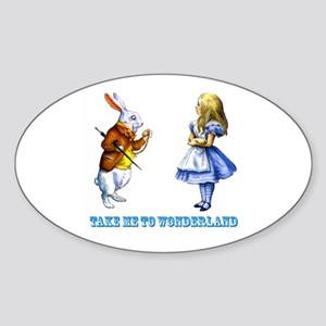 Take me to Wonderland Sticker (Oval)