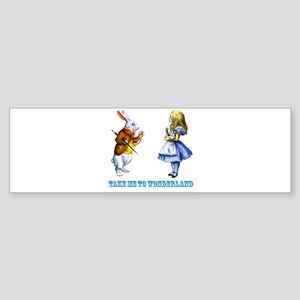 Take me to Wonderland Sticker (Bumper)