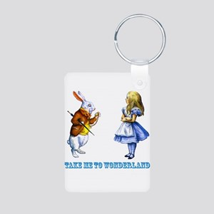 Take me to Wonderland Aluminum Photo Keychain