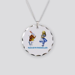 Take me to Wonderland Necklace Circle Charm