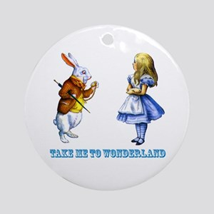 Take me to Wonderland Ornament (Round)