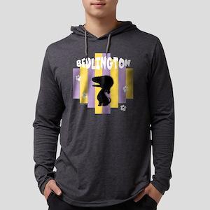 BedlingtonStripe2 Mens Hooded Shirt