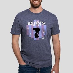 BedlingtonStripe3 Mens Tri-blend T-Shirt