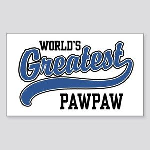 World's Greatest PawPaw Sticker (Rectangle)