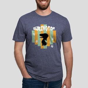 BedlingtonStripe4 Mens Tri-blend T-Shirt
