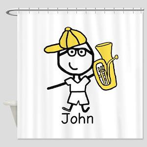 Boy & Baritone - John Shower Curtain