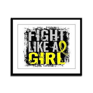 Fight Like a Girl 31.8 Sarcoma Framed Panel Print