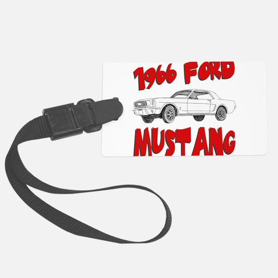 66 mustang.png Large Luggage Tag