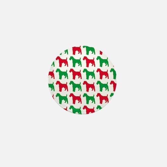 Schnauzer Christmas or Holiday Silhouettes Mini Bu