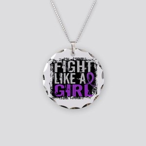 Fight Like a Girl 31.8 Sarcoidosis Necklace Circle