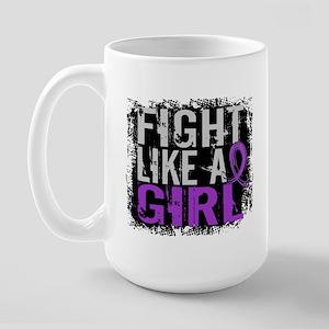 Fight Like a Girl 31.8 Sarcoidosis Large Mug