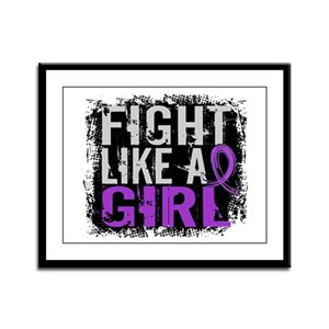 Fight Like a Girl 31.8 Sarcoidosis Framed Panel Pr