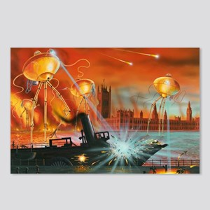 War of the Worlds, artwork - Postcards