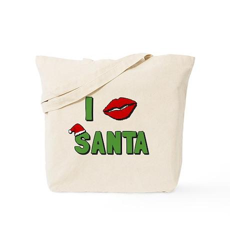 I Kissed Santa Tote Bag